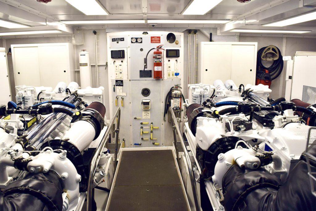 Engine Room Refit on the 112' Westport Risk & Reward